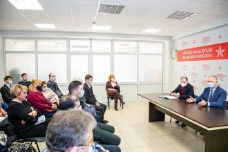 Igor Dodon a discutat cu aleșii locali PSRM din Chișinău despre dezvoltarea orașului și proiectele pentru cetățeni