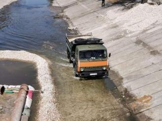 Au început betonarea albiei râului Bâc