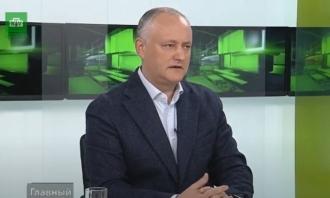 Maia Sandu nu dorește să negocieze extinderea regimului preferențial la export în Rusia, spune Dodon