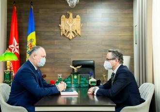 Dodon și Neukirch au discutat perspectivele de reglementare a conflictului transnistrean