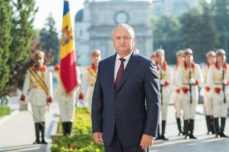 Igor Dodon a adresat un mesaj de felicitare de Ziua Drapelului și a Stemei de Stat