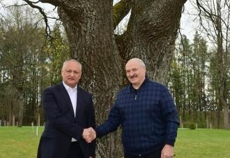 Situația geopolitică și tentativele unor actori occidentali de a submina securitatea și stabilitatea din regiunea noastră, discutate de către Dodon și Lukașenko