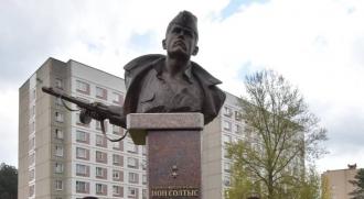 Monumentul eroului Ion Soltîs, inaugurat la Minsk. La ceremonie au participat Dodon și Greceanîi