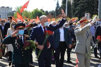 Igor Dodon, la Marșul Victoriei: Noi suntem învingători în acel război! (VIDEO)