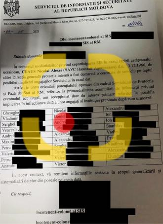 Lista integrală a ofițerilor SPPS, implicați în răpirea lui Ceaus a fost publicată de Realitatea.md