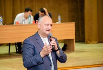 Igor Dodon, la Ștefan Vodă: Am simțit un sprijin important din partea oamenilor pentru programul nostru electoral