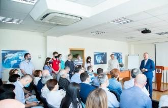 Igor Dodon a discutat cu angajații unuia dintre cele mai mari grupuri IT din țara noastră