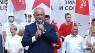 Noi vom apăra victoria noastră după 11 iulie, a declarat Dodon în încheierea mitingului Iubim Moldova