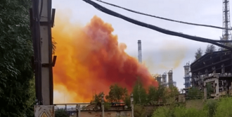 Explozia de la o uzină chimică din Ucraina ar putea provoca ploi acide în R.Moldova