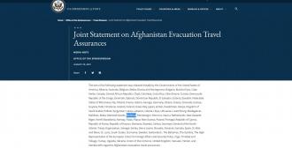 Departamentul de Stat al SUA: Aproape 100 de țări, printre care și R.Moldova, gata să primească cetățenii evacuați din Afganistan