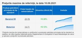 Prețul la carburanți, stabilit de ANRE: Benzina - 20,78 lei, motorina - 16,71 lei