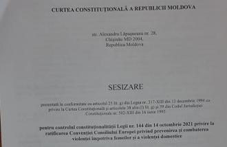 Deputații Blocului Comuniștilor și Socialiștilor sesizează Curtea Constituțională cu privire la legalitatea ratificării Convenției de la Istanbul