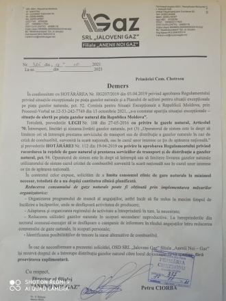 Moldovenii, amenințați că pot fi deconectați de la gaz, dacă nu fac economii
