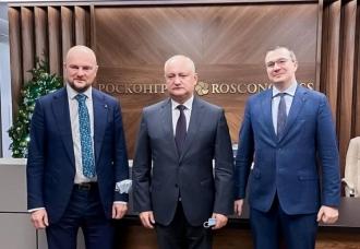 """Igor Dodon, la Moscova, a avut o întrevedere de lucru cu conducerea """"Roskongress"""""""