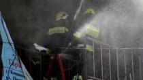 O spălătorie auto din sectorul Rîșcani, cuprinsă de flăcări