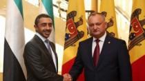 Dodon: Moldova va coopera cu Emiratele Arabe Unite în sectoare prioritare