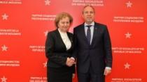 Zinaida Greceanîi s-a întîlnit cu ambasadorul României