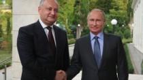 Igor Dodon l-a felicitat pe Vladimir Putin cu ocazia învestirii în funcția  ...