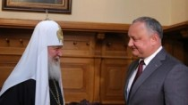 Igor Dodon s-a întâlnit la Moscova cu Patriarhul Kiril