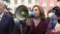 Igor Dodon face aluzii că la protestul Maiei Sandu au participat aceeași oa ...